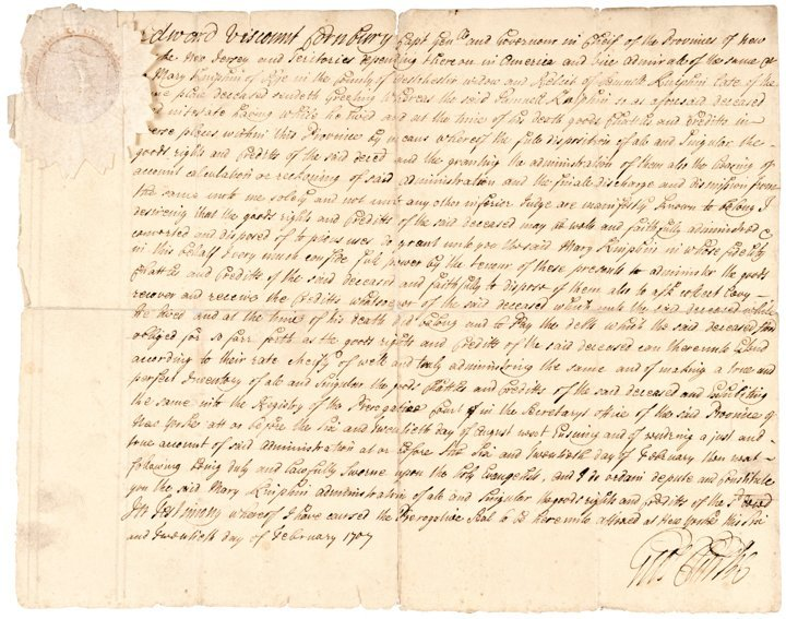 GEORGE CLARKE, Manuscript Document Signed 1797