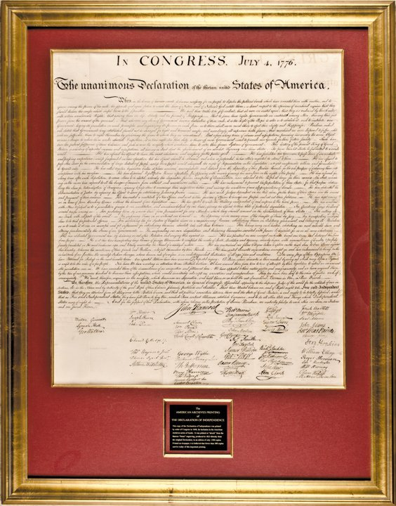 (DECLARATION OF INDEPENDENCE) Peter Force Printing 1843