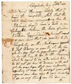 CHIEF CORNPLANTER Autographed Manuscript Letter
