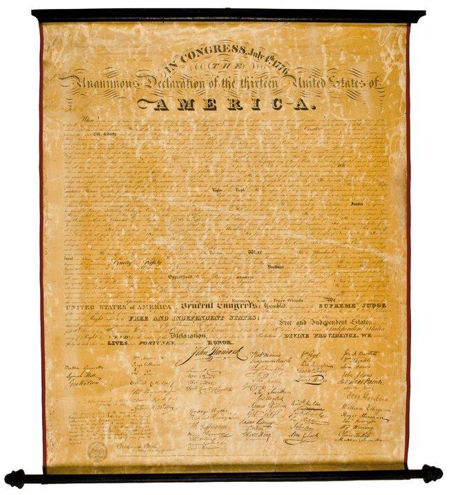 (DECLARATION OF INDEPENDENCE), 1818 Broadside