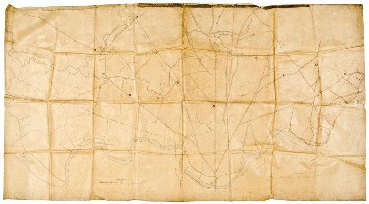 Three Large Handmade Drawn Maps of Pennsylvania