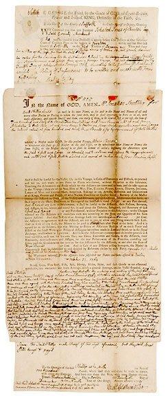 Lot    1: John Adams Signed Document 1768