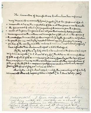 Lot 2: John Q. Adams Signed Document 1840