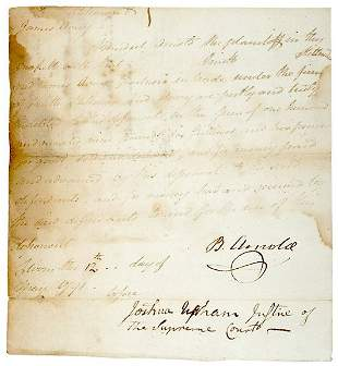 Lot 4: Benedict Arnold Signed Document
