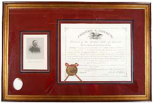 Lot 5: Chester Arthur Signed Appointment