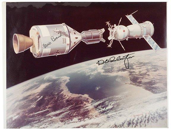 Lot    7: Astronaut Deke Slayton Signed Image