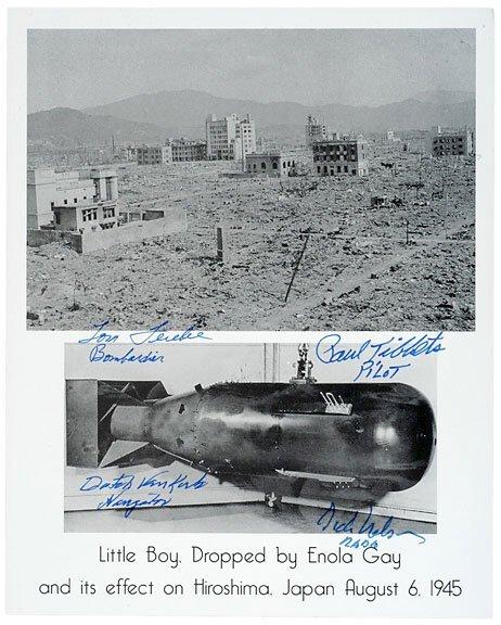 Lot    9: Hirosima Atomic Bomb Photo, Signed