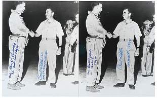 Lot 10: Atomic Bomb Pilots Signed Photos