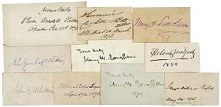 Lot 12: 19th Century Autograph Collection