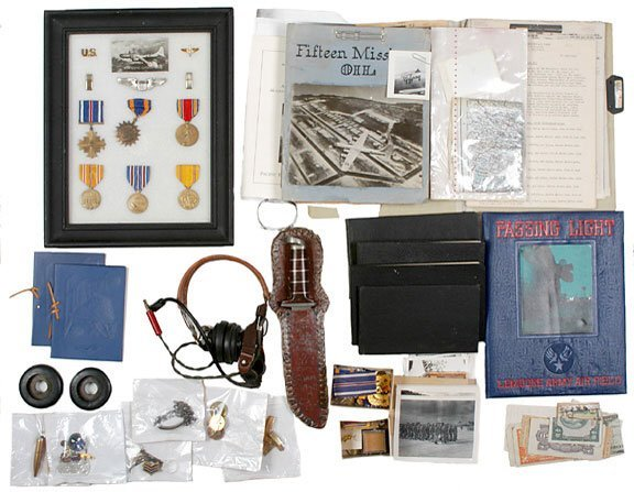 Lot   13: Extensive Archive of WW II Pilot