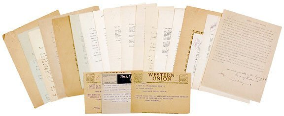 Lot   15: Correspondence of Lionel Barrymore