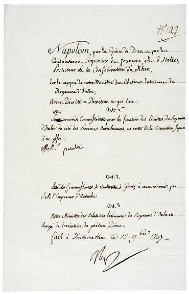 Lot   22: Napoleon Bonaparte Signed Document