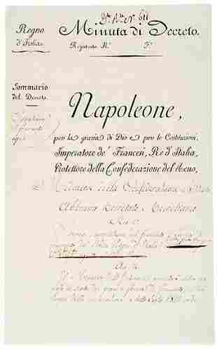 Lot 23: Napoleon Bonaparte Signed Document