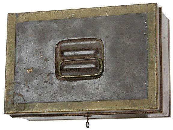 Lot  352: George Mason Metal Document Box