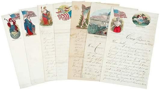 Lot  406: Union Civil War Letters