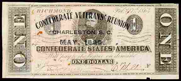 Lot  481:CSA $1-Confederate Civil War Reunion