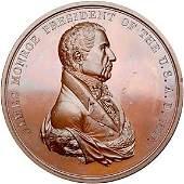 Lot 1185: 1817 J. Monroe Indian Peace Medal