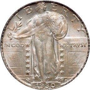 Lot 1224:1930 Standing Liberty Quarter Dollar