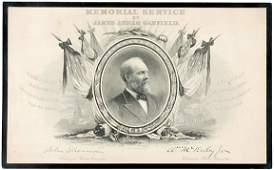 Lot 1443: James Garfield Memorial Portrait