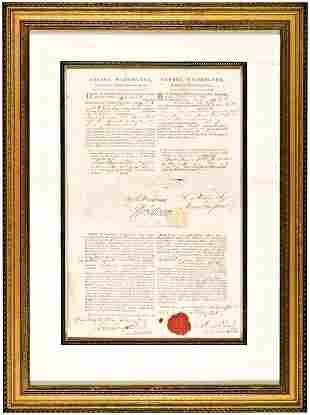 GEORGE WASHINGTON and THOMAS JEFFERSON Document