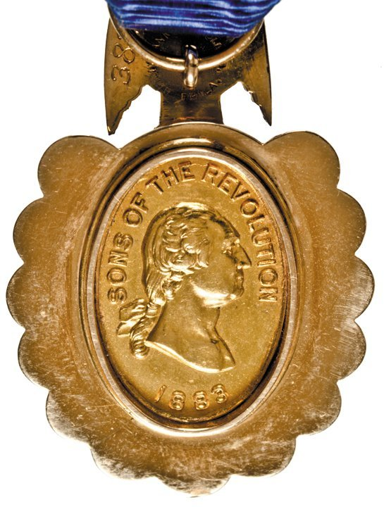 1883 Sons of the Revolution Medal. 14ct. Gold. - 6