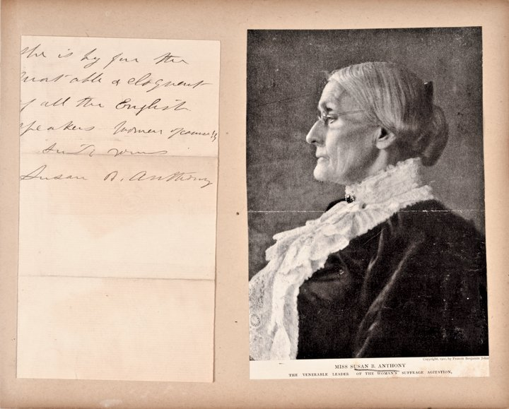 SUSAN B. ANTHONY, Autograph Letter Signed in 1891