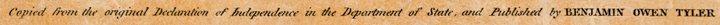 Benjamin Owen Tyler: DECLARATION OF INDEPENDENCE - 5