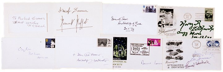 HENRY FORD, LEE IACOCCA + ASSORTED AUTOGRAPHS