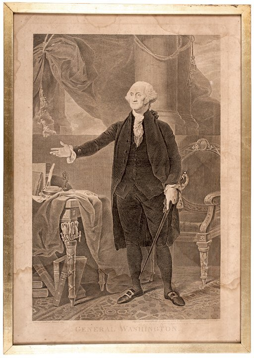 General Washington Heath Engraving After Stuart