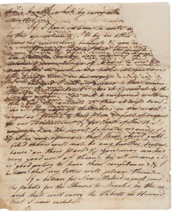 (PINCKNEY'S TREATY) Transfer of Natchez to the US - 5