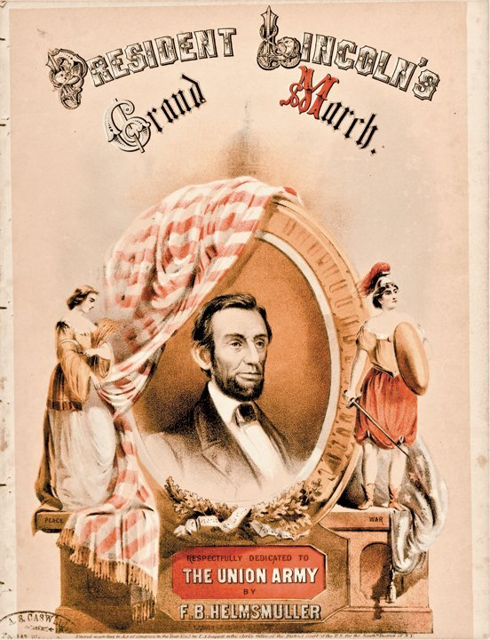 1862 Sheet Music PRESIDENT LINCOLN'S Grand March