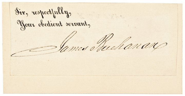 JAMES BUCHANAN 15th President Clipped Signature