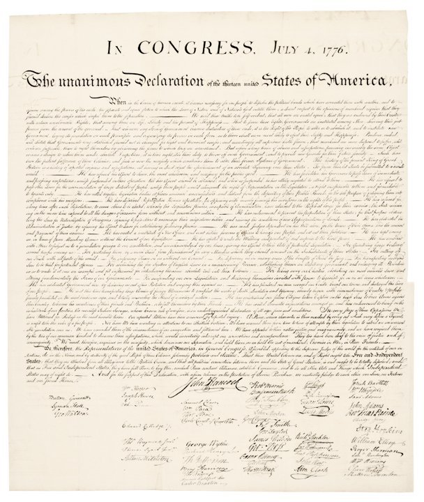 DECLARATION OF INDEPENDENCE 1843 Peter Force