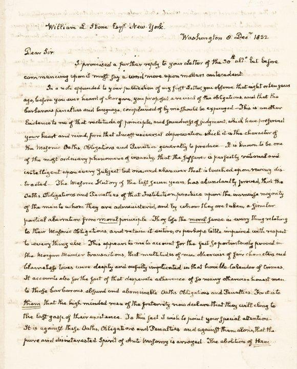 JOHN QUINCY ADAMS Signed Superb Autograph Letter
