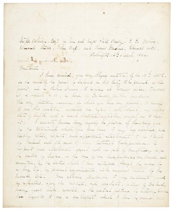 JOHN QUINCY ADAMS 1846 Autograph Letter Signed.
