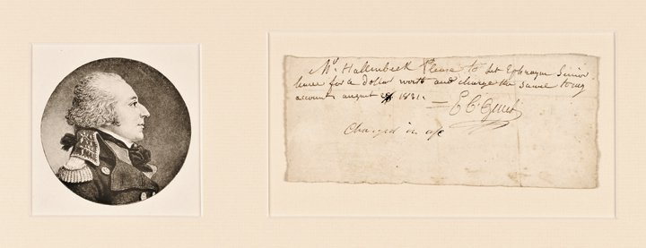 EDMOND CITIZEN GENET, Autograph Note Signed 1831