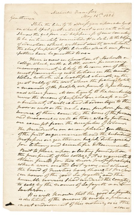 ANDREW JACKSON Autograph Letter Signed Twice!