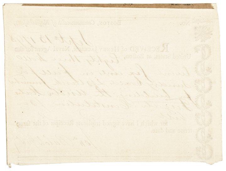1798 USS CONSTITUTION Receipt - Boards & Planks - 2