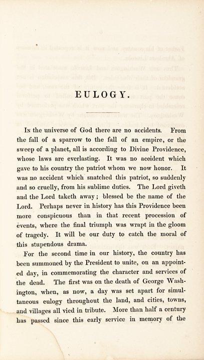 Abraham Lincoln Eulogy by Senator Charles Sumner - 2