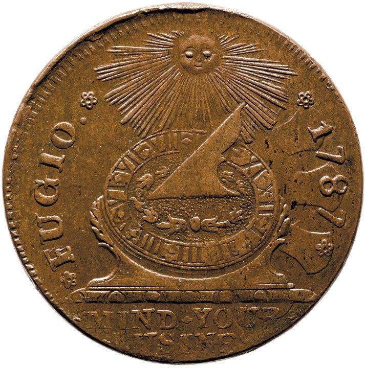 Gem 1787 Fugio Cent. STATES UNITED. Newman 11-X