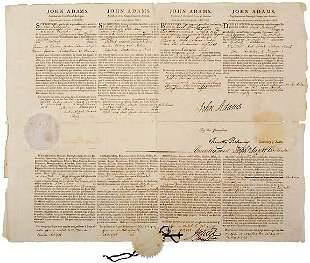Lot 1: John Adams Signed Document 1798