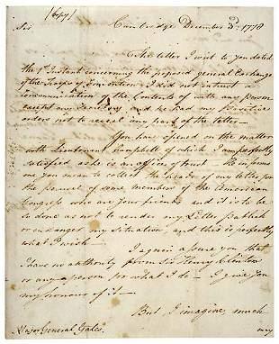 Lot 5: Gen. W. Phillips Signed Letter 1778