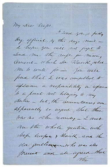 Lot    6: Robert Anderson Signed Letter 1856