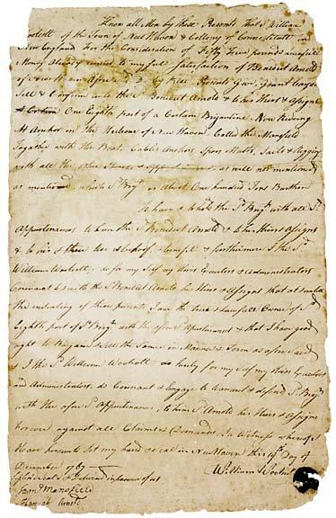 Lot    7: 1767 Bill of Sale - Benedict Arnold