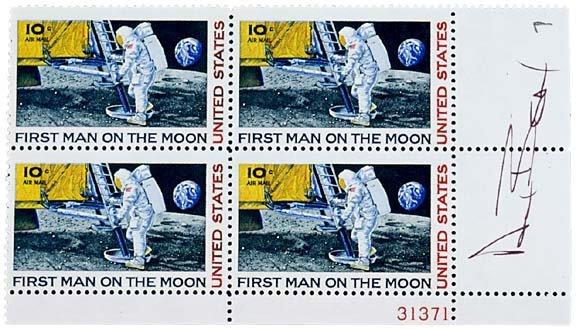 Lot   11: Astronaut Alan Bean Signed Stamps