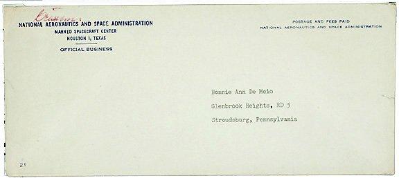 Lot   12: Astronaut Gus Grissom Signed Env.