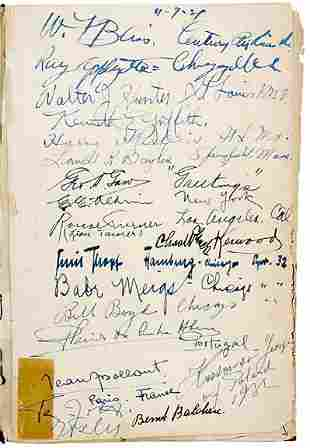 Lot 14: Aviation Pioneers Signatures