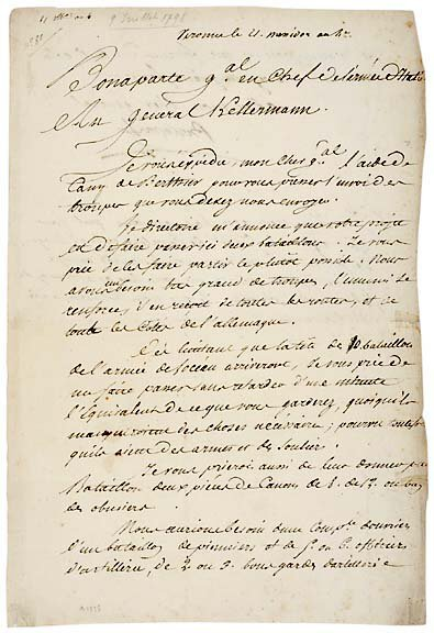 Lot   20: Napoleon Bonaparte Signed Document