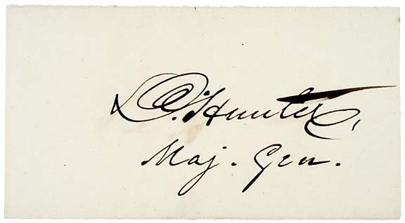 Lot   21: David Hunter Signature