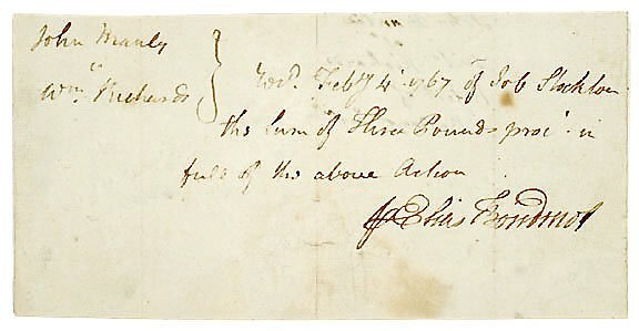 Lot   22: Elias Boudinot Document Signed